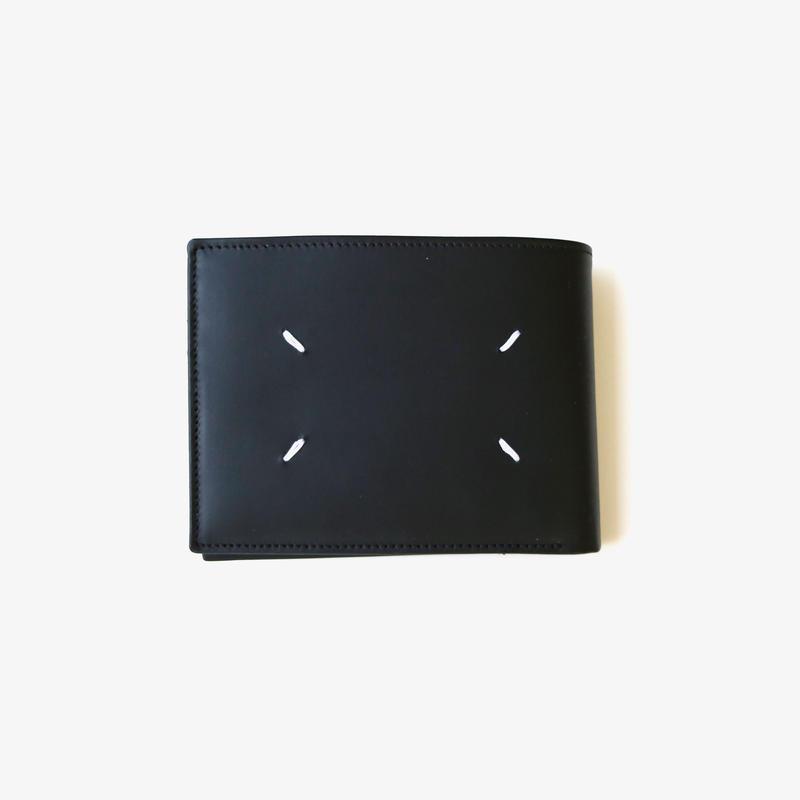 Maison Margiela   LEATHER FOLD WALLET   BLACK