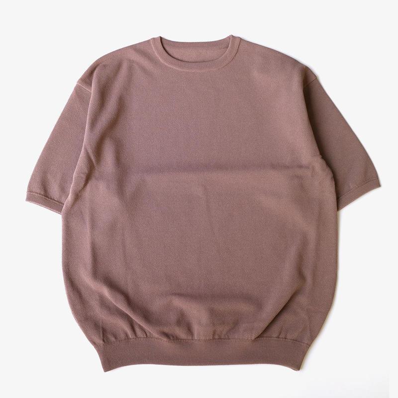 crepuscule | S/S knit | Gray beige