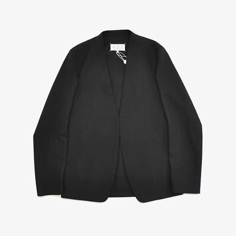 Maison Margiela | NO COLLAR JACKET | BLACK