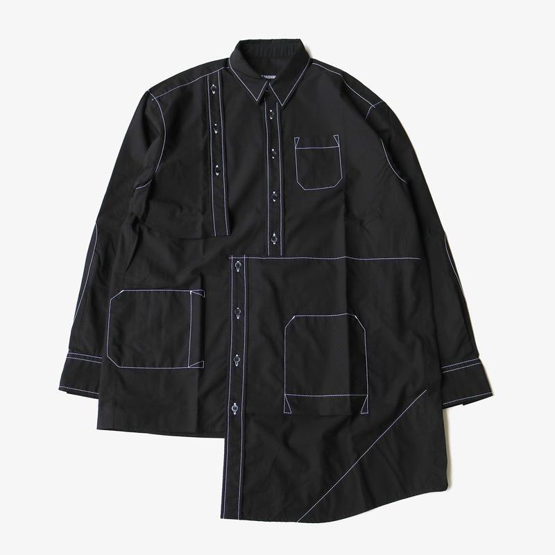 YUKI HASHIMOTO |  BUG DETAIL SHIRTS | BLACK