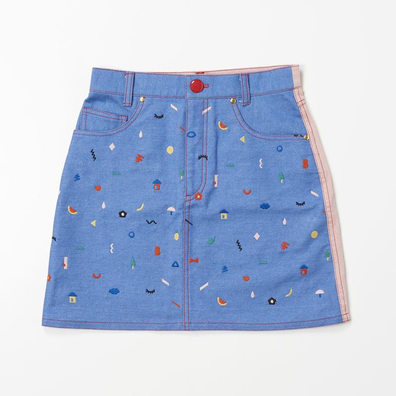 Doodle  Stitch Skirt (PINK)