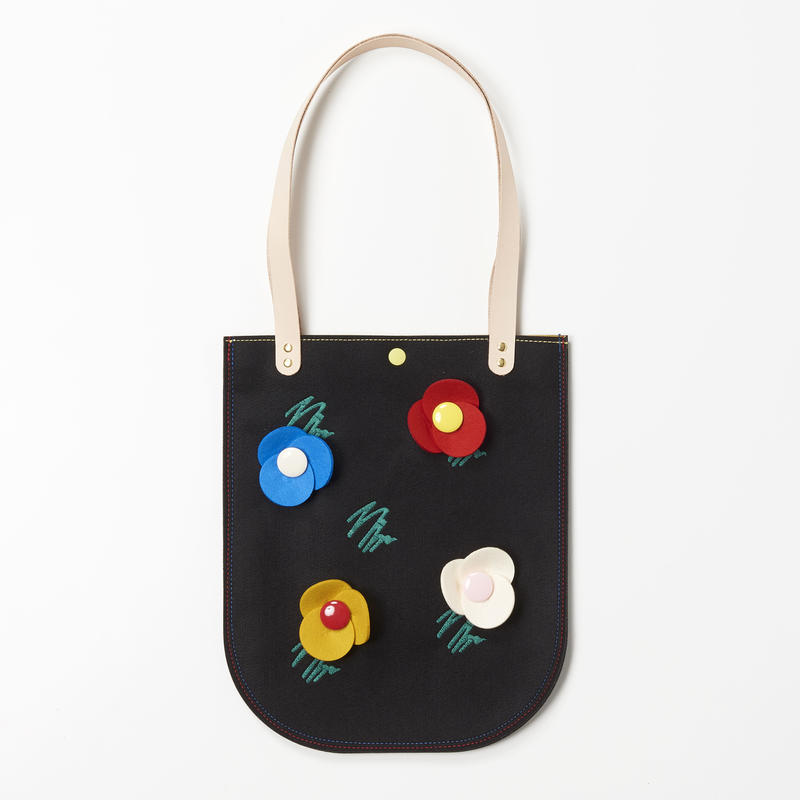 Doodle Flower Bag (BLACK)