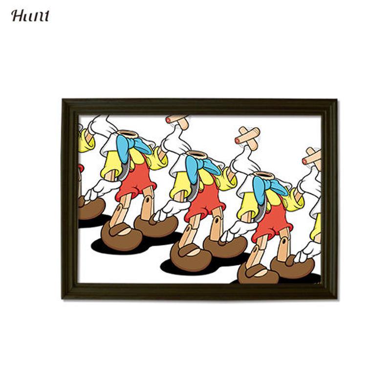 Second Series JARRIX  ART POSTER ジャリックス Pino××××× グラフィック アート ポスター A3サイズ
