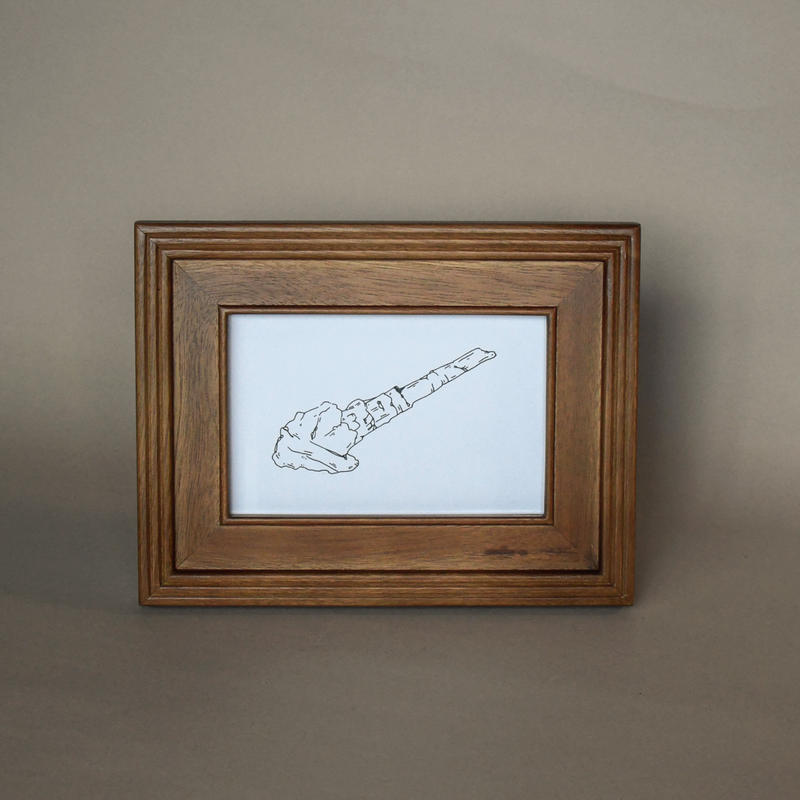Museum exhibits. / Framed original drawing