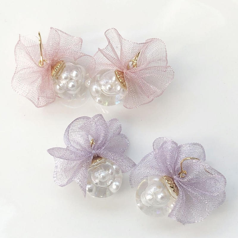 tutu ribbon dome *girly×pearl