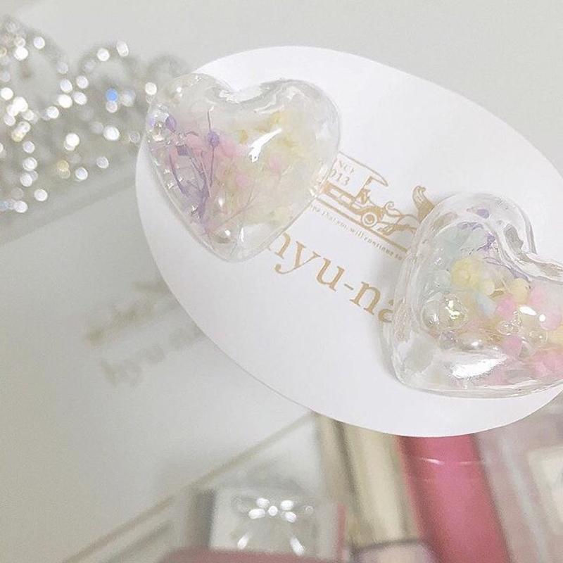ガラスドームハート*pastel flower*