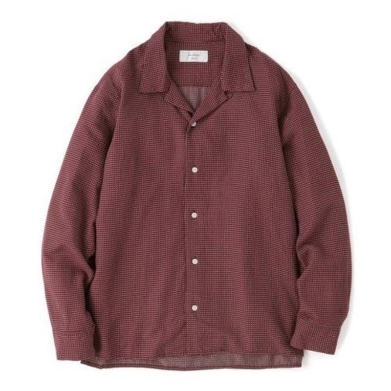 "Sandinista ""Rayon Stitched Cross Shirts""/サンディニスタ""レーヨンステッチクロスシャツ""(バーガンディー)"