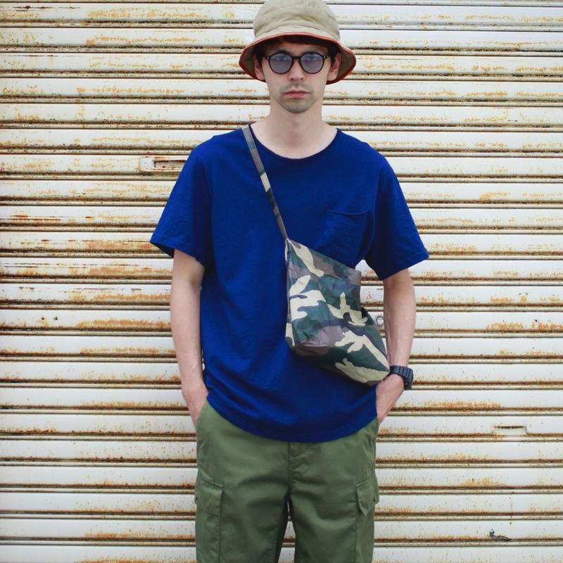 "Sandinista ""Indigo Damaged Pocket Tee""(インディゴブルー)"