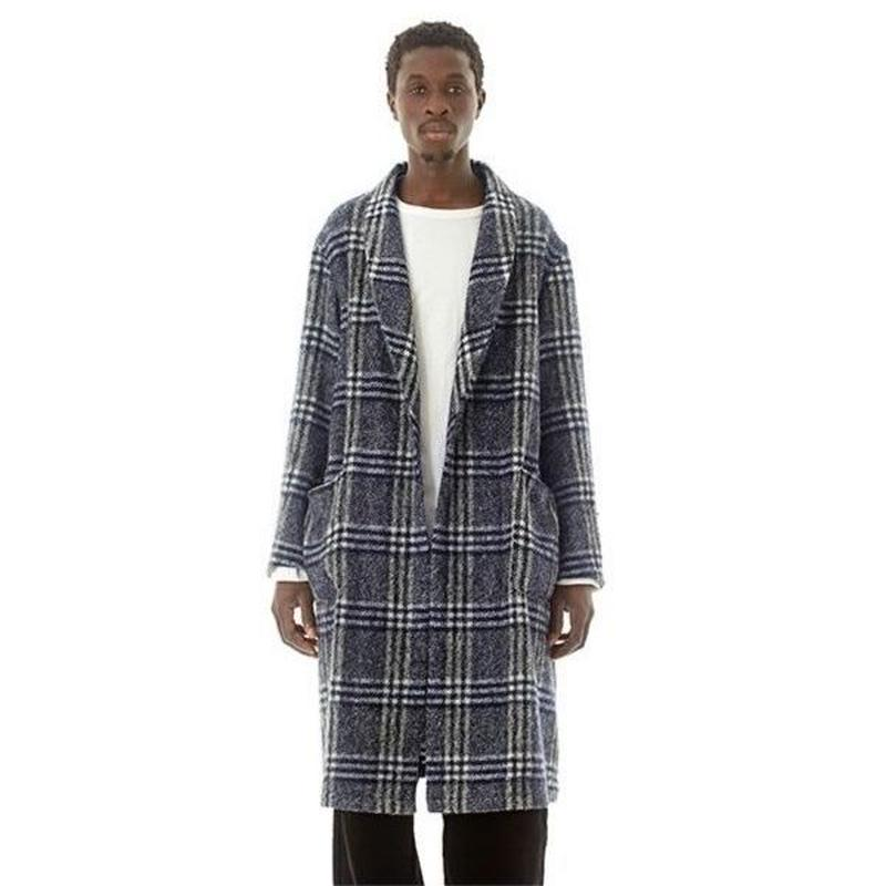"Sandinista ""Easy Fit Wool Check Gown"" (ネイビー)"