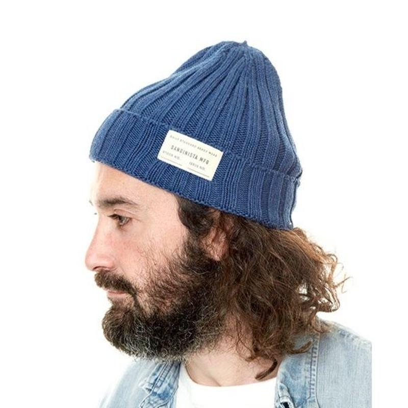 "Sandinista ""Daily Cotton Rib Knit Cap"" (インディゴ)"
