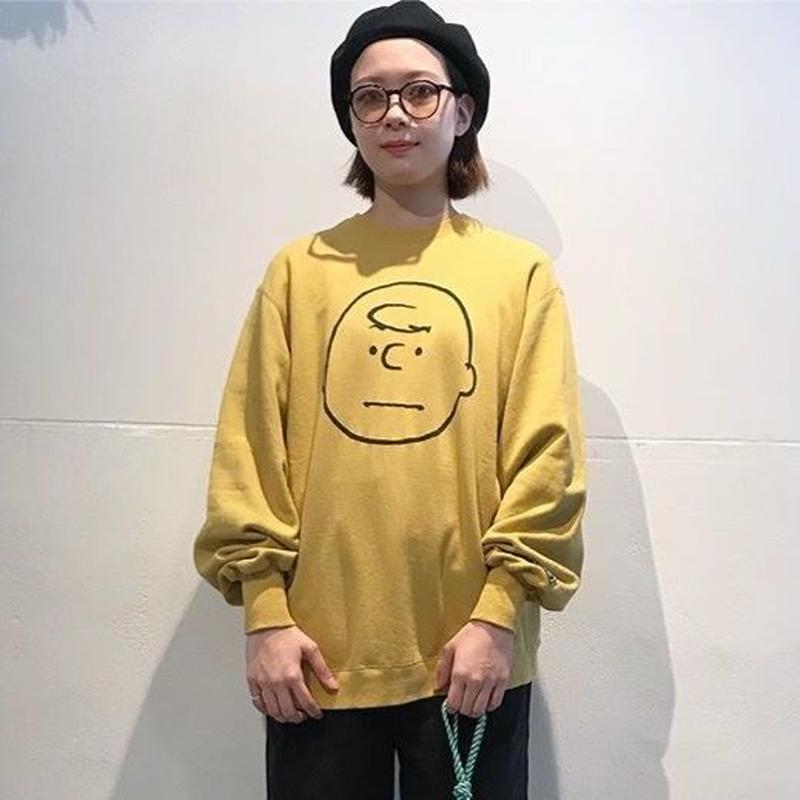 "VOTE MAKE NEW CLOTHES ""CHARLIE BROWN VTG BIG SWEAT"" (マスタード)"