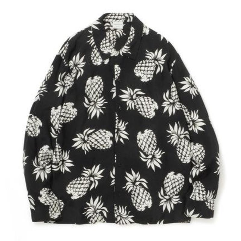 """Sandinista """"Rayon Open Collar Shirt"""" / サンディニスタ """"レーヨンオープンカラーシャツ"""" (パイナップル)"""