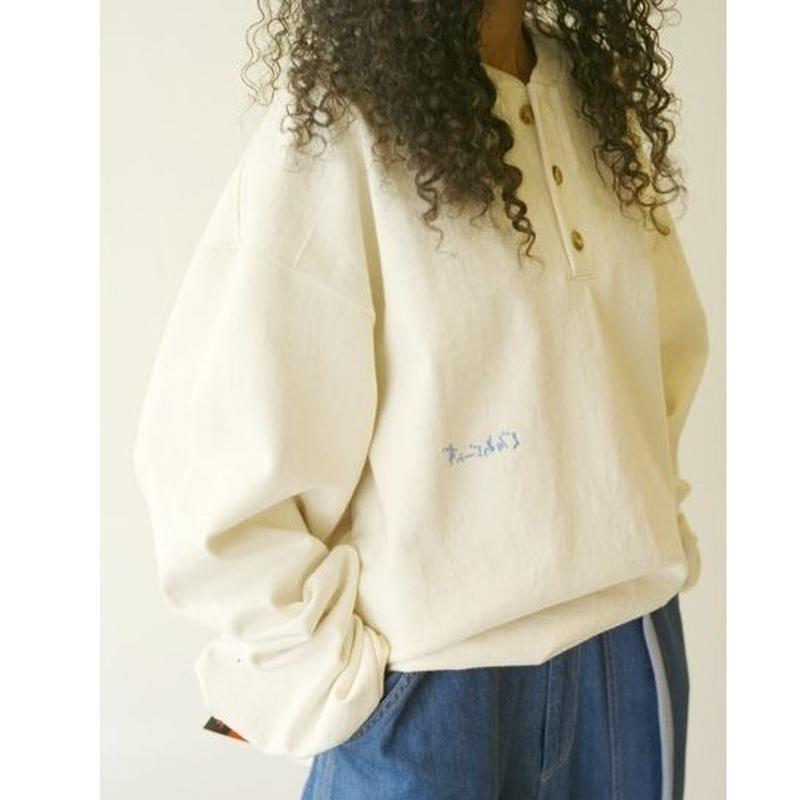 """■お問い合わせ商品■ gourmet  jeans """"CAMBER刺繍ヘンリー"""" (アイボリー)"""