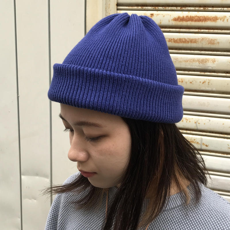 "crepuscule ""knit cap2"" / クレプスキュール ""ニットキャップ2"" (ブルー)"
