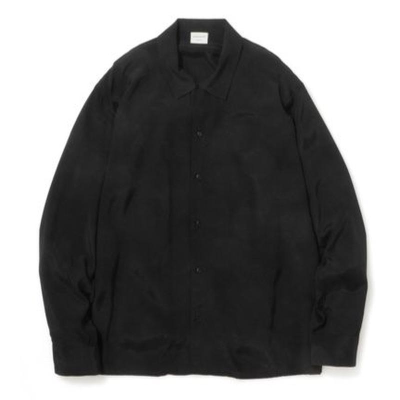 """Sandinista """"Rayon Open Collar Shirt"""" / サンディニスタ """"レーヨンオープンカラーシャツ"""" (ブラック)"""