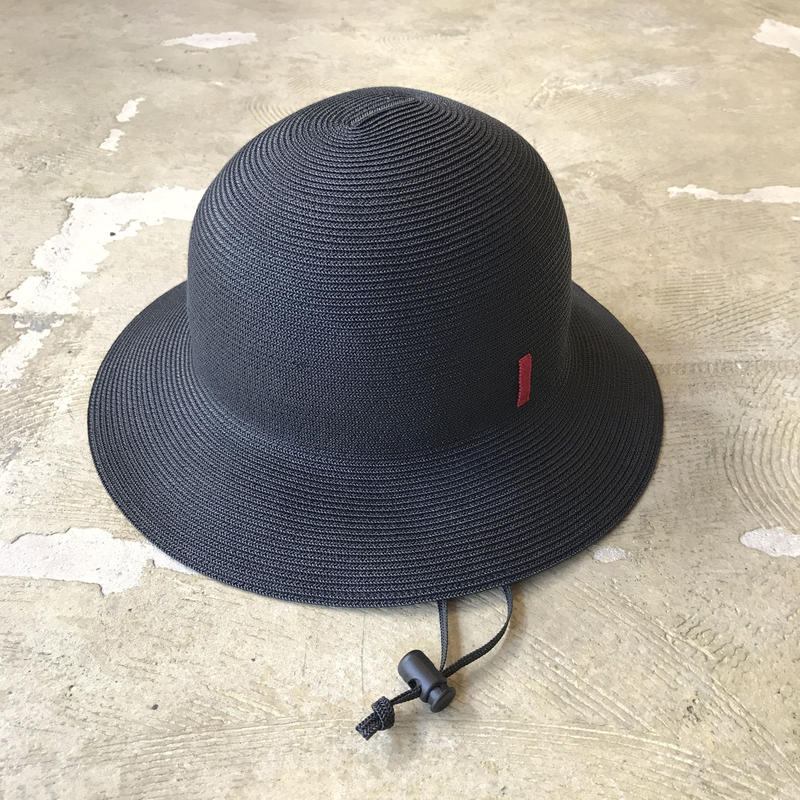 """bocodeco """"paper braid safari hat"""" / ボコデコ""""ペーパーブレードサファリハット""""(ブラック)"""