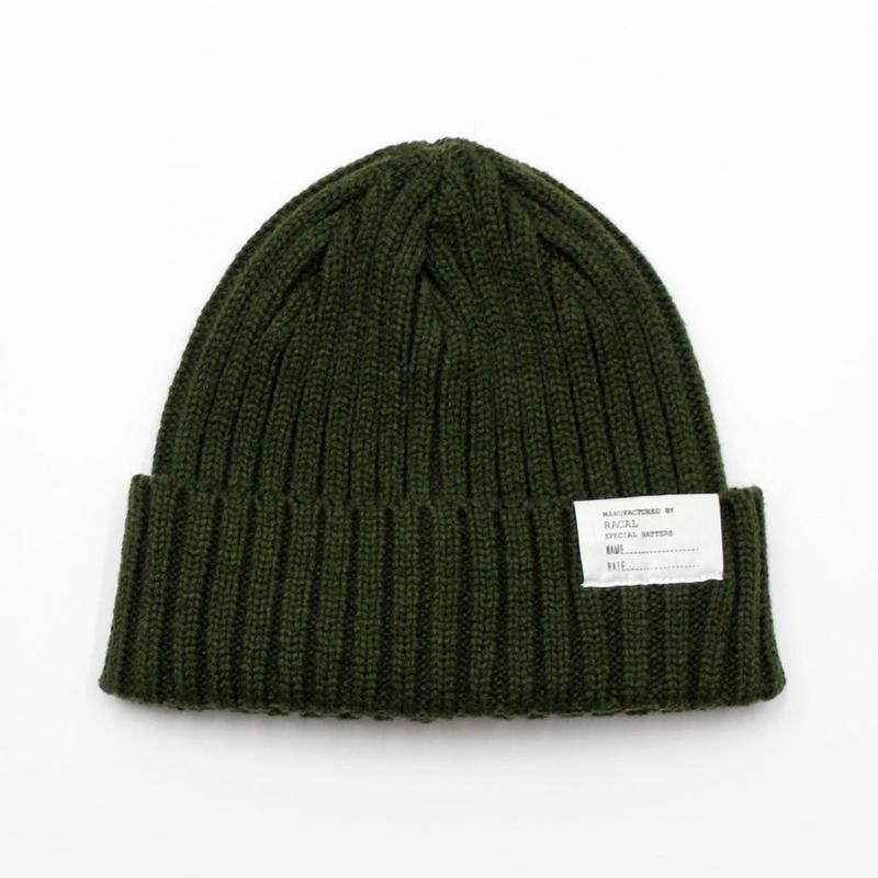 "RACAL ""Standard Knit CAP"" (ダークグリーン)"