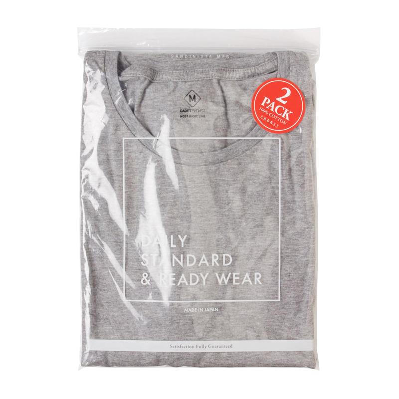 "Sandinista ""Cadet C/N Tee - 2 Packs""(グレー)"