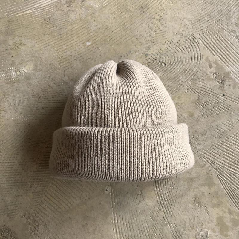 "crepuscule ""knit cap2"" / クレプスキュール ""ニットキャップ2"" (ベージュ)"