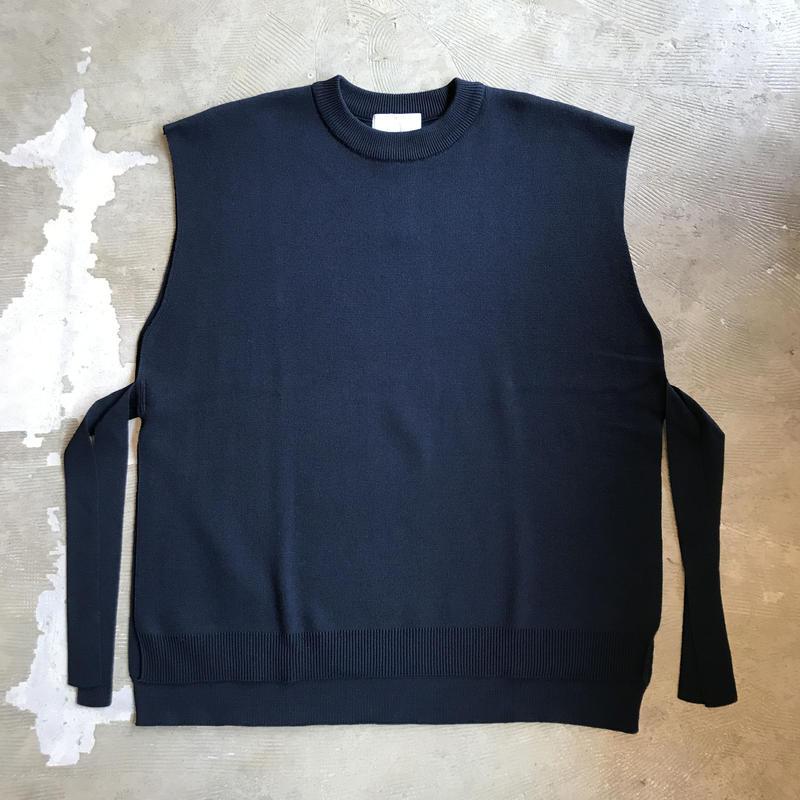"bunt ""tape knit vest"" / バント ""テープニットベスト"" (ネイビー)"