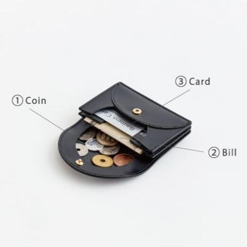 "irose ""fold mini wallet""  / イロセ ""フォルドミニウォレット""(ブラック)"