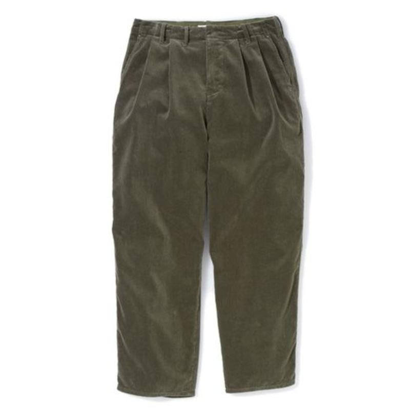 "Sandinista ""Cord Wide Tuck Pants"" (オリーブ)"