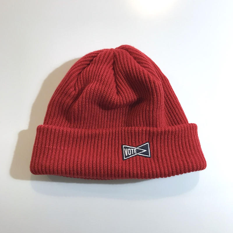 "VOTE MAKE NEW CLOTHES ""SIDE LOGO BEANIE"" (レッド)"