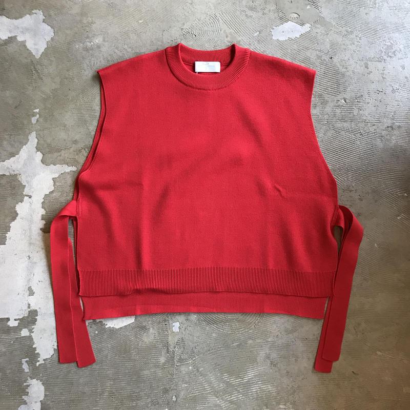 "bunt ""tape knit vest"" / バント ""テープニットベスト"" (レッド)"