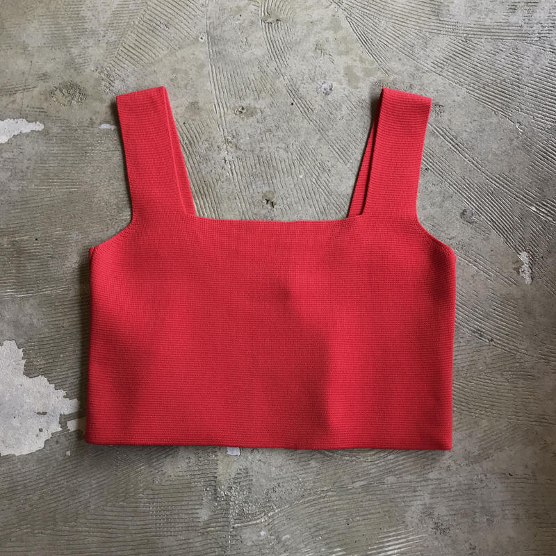 """bunt """"cropped camisole"""" / バント """"クロップドキャミソール"""" (レッド)"""