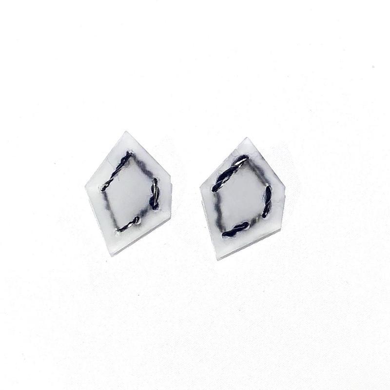 nezu 氷の石 × ラメマット (大) ピアス | 18AY54P