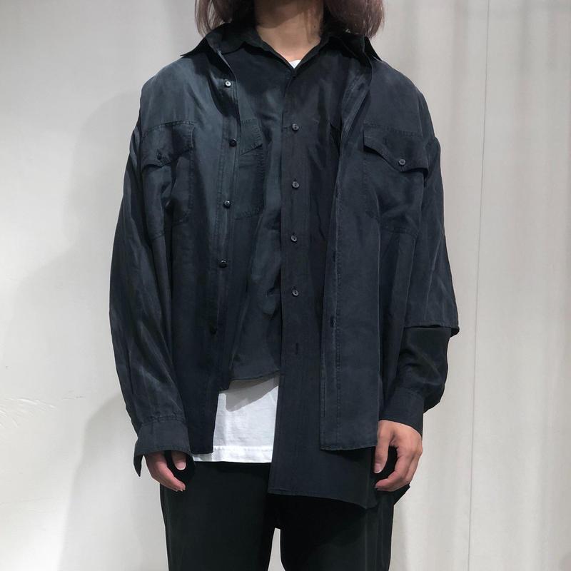 ist design project asymmetry  layered  silk shirt A