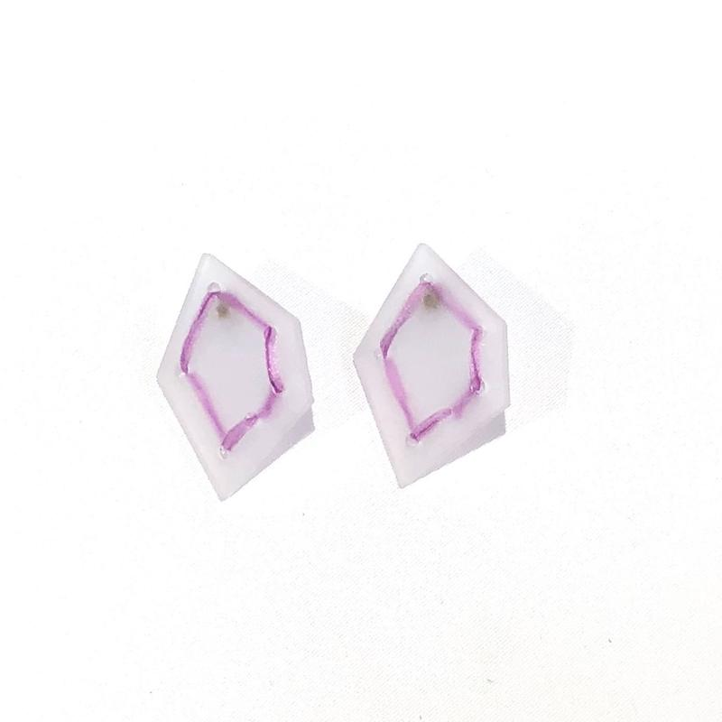 nezu 氷の石 × ライン (大) ピアス | 19SY11P