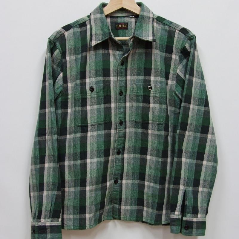 フラットヘッド HEAVY NELワークシャツ HN-72W
