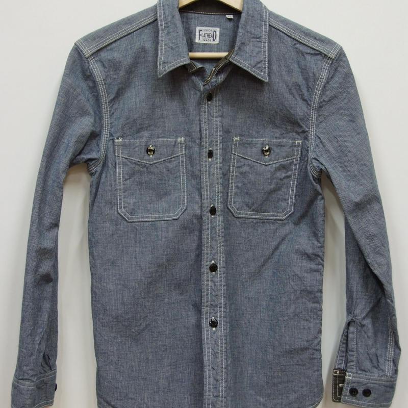 フラットヘッド PINCHECKワークシャツ CO-06W