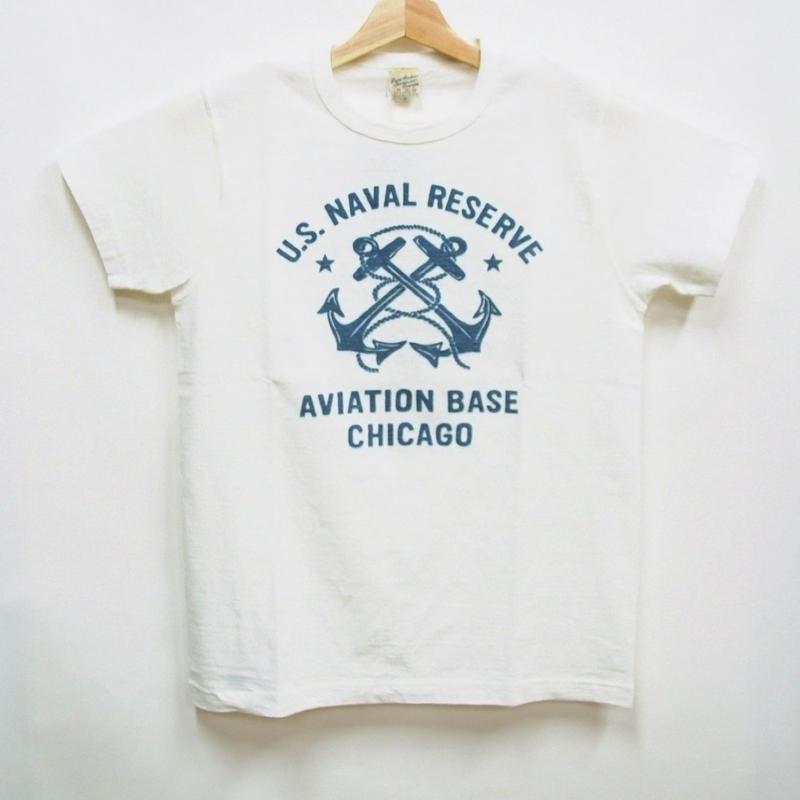 バズリクソンズ  T-シャツ BR77259「U.S.N AVIATION BASE CHICAGO」
