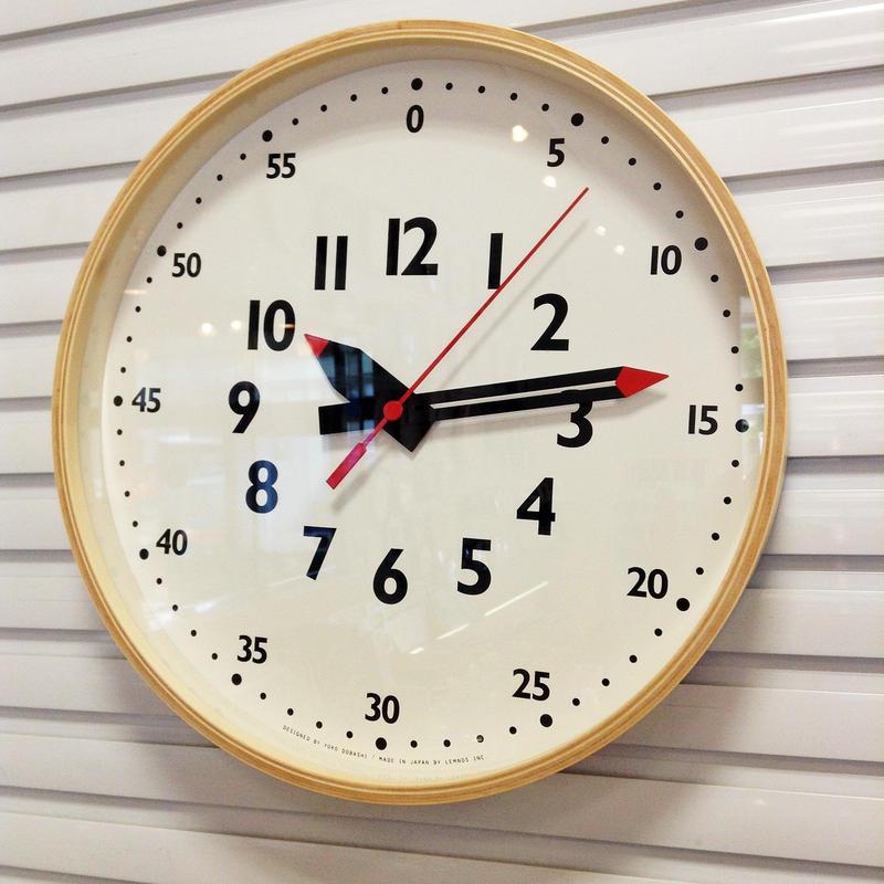 LEMNOS [fun pun clock]  M/掛け時計 フンプンクロック(M)