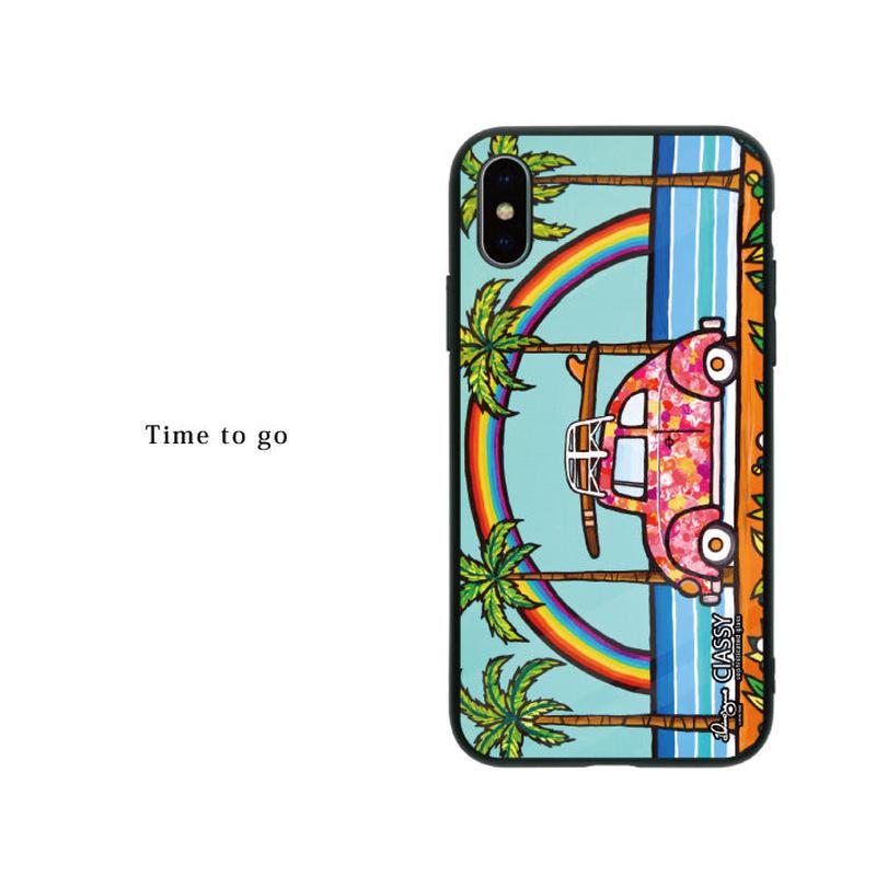 iPhone ガラスハードケース ラウンド型 Time