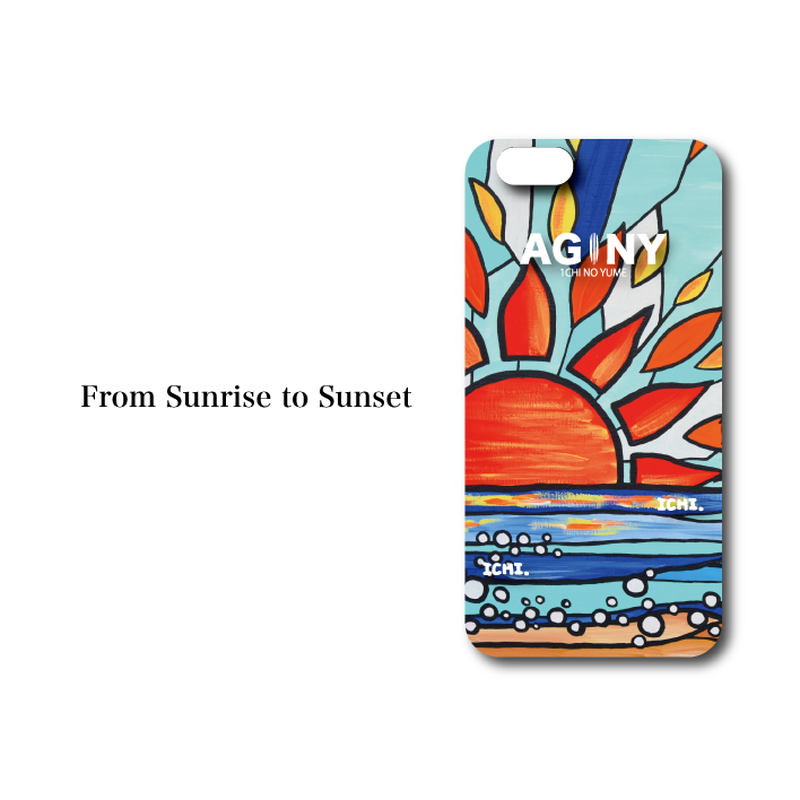 "iPhone 6/6S/7/8 Plus XsMax対応 ハードケースカバー ""From Sunrise to Sunset"""