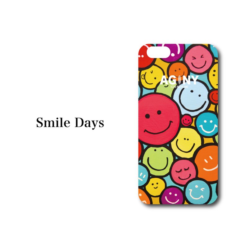 "iPhone 6/6S/7/8 Plus XsMax 対応   ハードケースカバー ""Smile Days"""