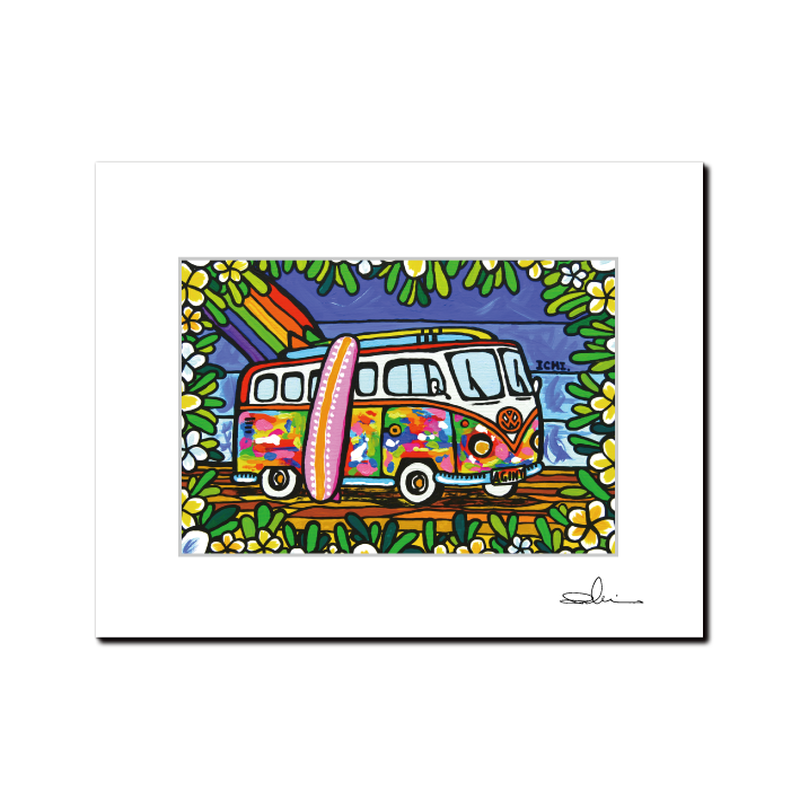 "L判 ArtPrint マットフレーム ""Wagen Bus Trip"""