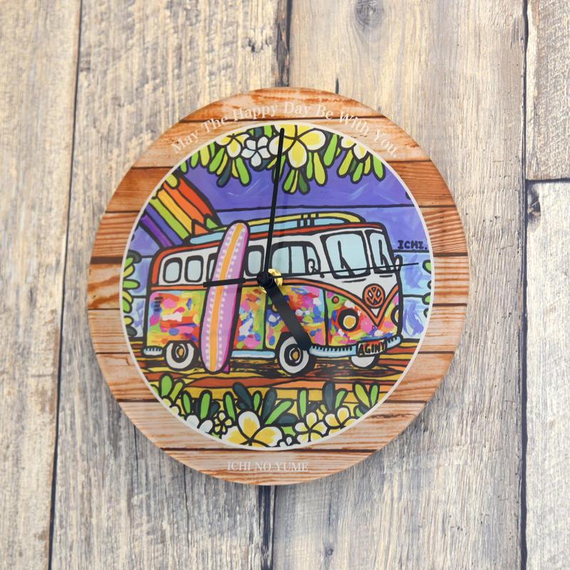 """【数量限定】オリジナルかけ時計 """"Wagen Bus Trip"""""""