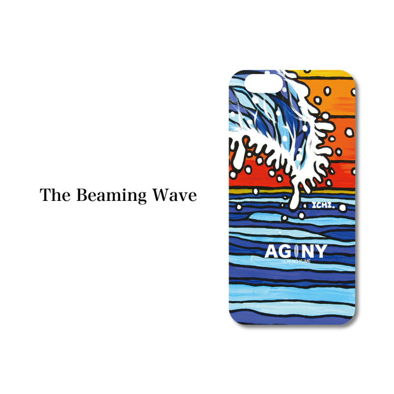 "iPhone 6/6S/7/8 Plus XsMax対応 ハードケースカバー ""The Beaming Wave"""