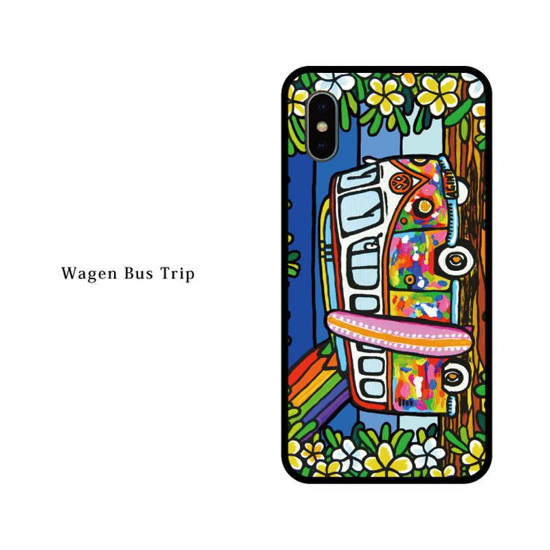 iPhone ガラスハードケース ラウンド型 Wagen