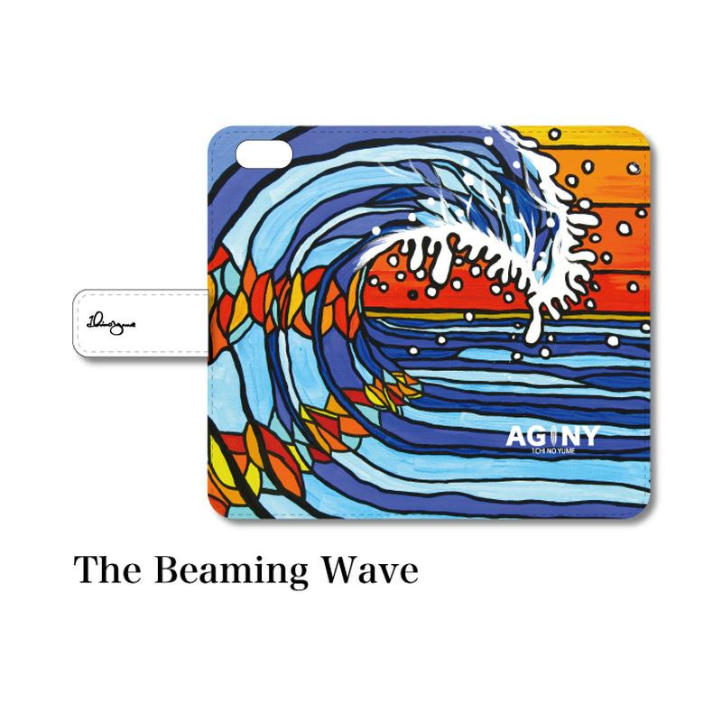 """全スマホ対応 マルチタイプ手帳型カバー """"The Beaming Wave"""""""