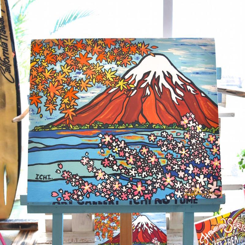 """木張りキャンバスプリント/Artist Proof F10号 """"The Story Of FUJIYAMA"""""""