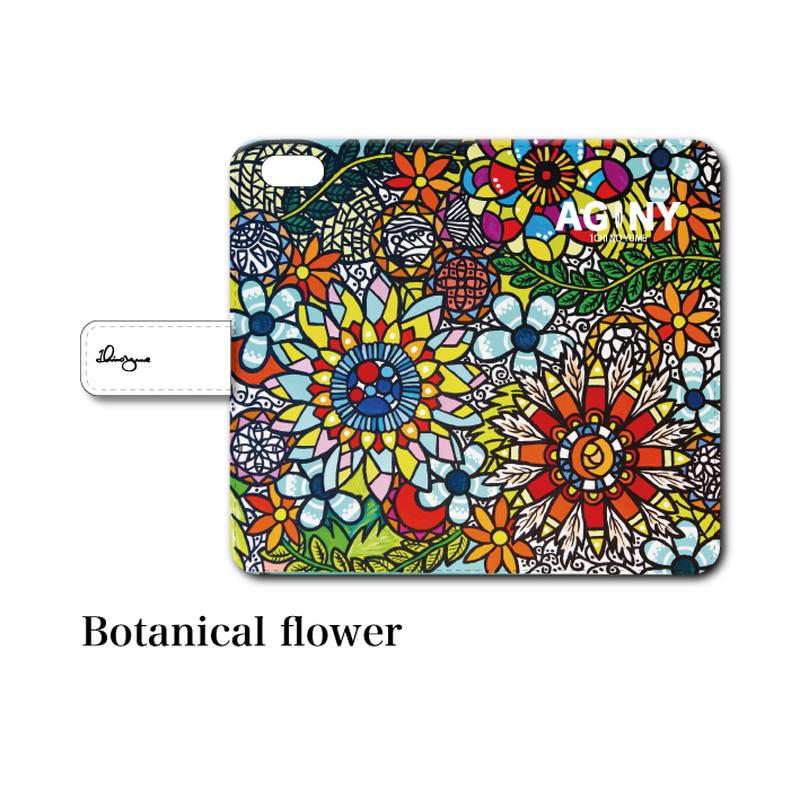 "iPhoneシリーズ対応 手帳型カバー ""Botanical Flower"""