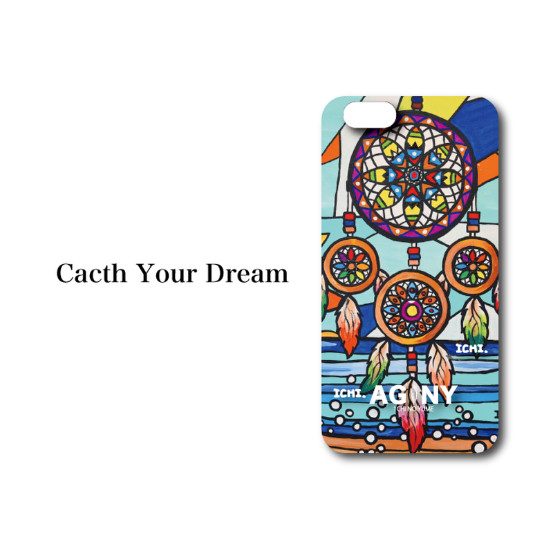 "iPhone 6/6S/7/8 Plus XsMax対応 ハードケースカバー ""Catch your Dream"""