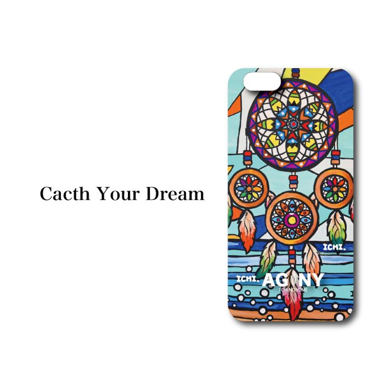 "iPhone 6/7/8/X/XR 対応 ハードケースカバー ""Catch your Dream"""