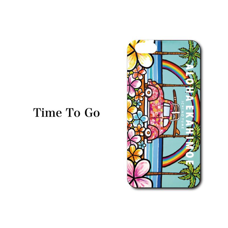"""完全オリジナル特注!!iPhone 6/6s/7/8 Plus  XsMax対応   ハードケースカバー """"Time To Go"""""""