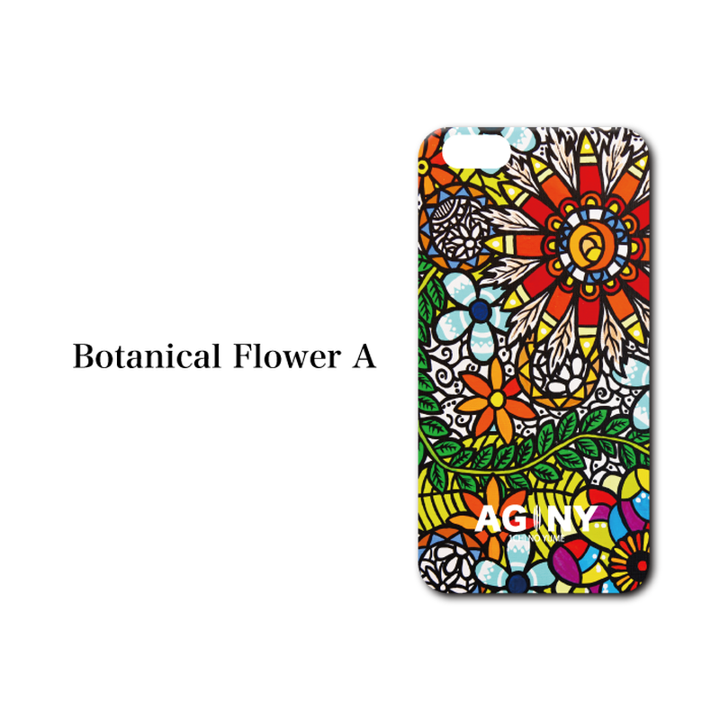 "iPhone 6/7/8/X/XR 対応   ハードケースカバー ""Botanical Flower A"""